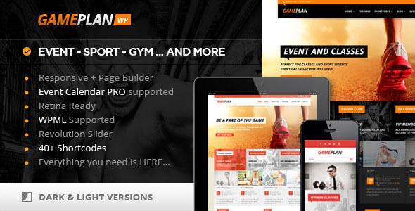 Wordpress Kreativ Template Gameplan - Event and Gym Fitness WordPress Theme