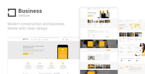 Wordpress Immobilien Template Yellow Business - Construction Theme
