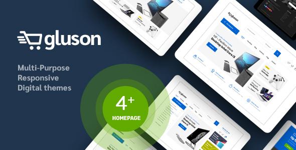 Wordpress Shop Template Gluson - Digital Theme for WooCommerce WordPress