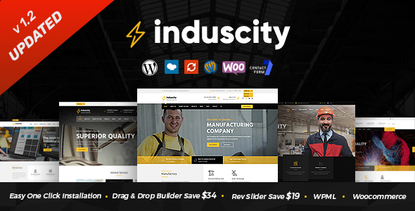 Wordpress Immobilien Template Induscity - Factory and Manufacturing WordPress Theme