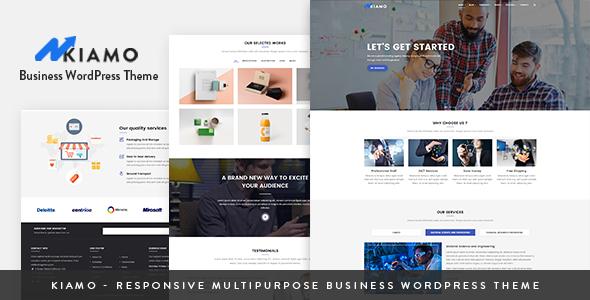 Wordpress Immobilien Template Kiamo - Responsive Business Service WordPress Theme
