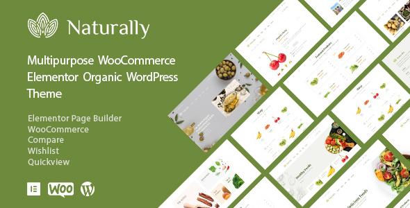 Wordpress Shop Template Naturally - Organic Food & Shop WooCommerce Theme