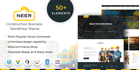 Wordpress Immobilien Template Neer - Construction Business WordPress Theme