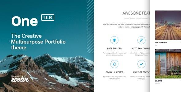 Wordpress Kreativ Template One - The Creative Multipurpose Portfolio theme