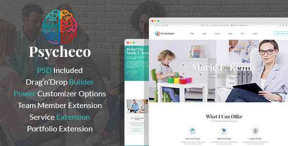 Wordpress Immobilien Template PsycheCo – Psychology & Counseling WordPress Theme