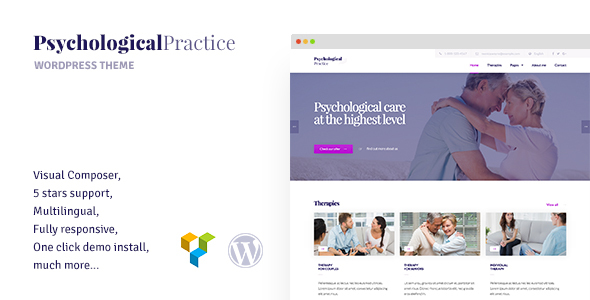 Wordpress Immobilien Template Psychology - WordPress theme for Psychological Practice, Psychologist and Psychiatrist