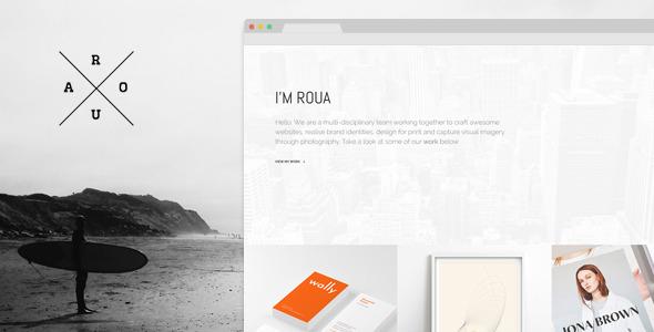 Wordpress Kreativ Template ROUA - Hipster Portfolio & Blogging WP Theme