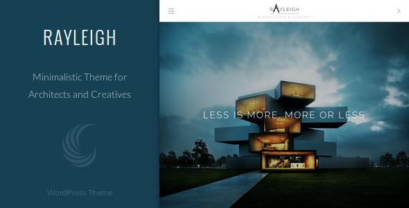 Wordpress Kreativ Template Rayleigh - A Responsive Minimal Architect Theme