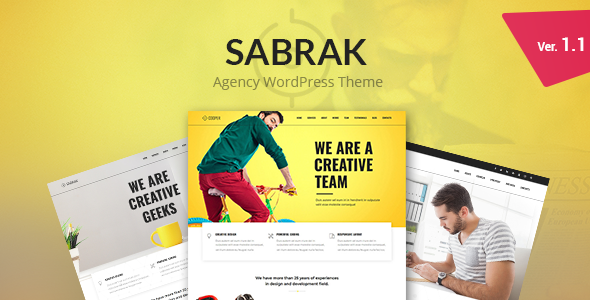 Wordpress Immobilien Template Sabrak - Agency WordPress Theme