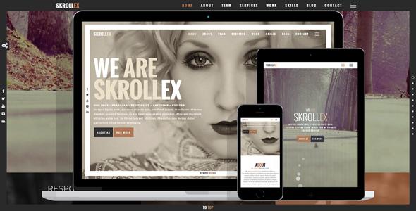 Wordpress Kreativ Template Skrollex - Creative One Page Parallax