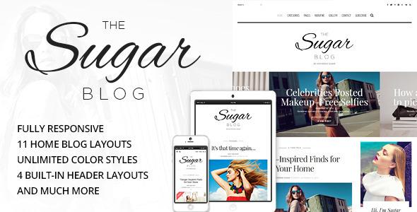 Wordpress Blog Template Sugar - Clean & Personal WordPress Blog Theme