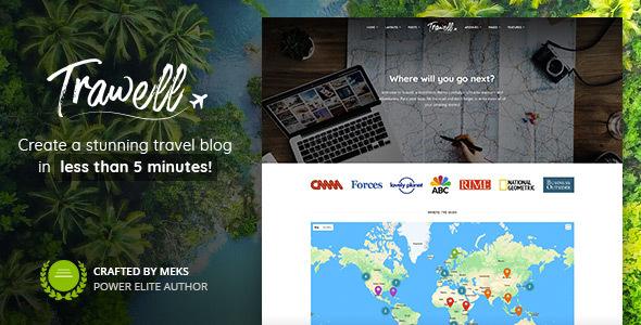 Wordpress Blog Template Trawell - Travel Blog Theme for WordPress