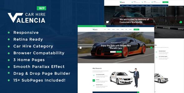 Wordpress Immobilien Template Valencia - Car Hire WordPress Theme