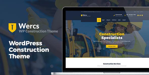 Wordpress Immobilien Template Wercs - WordPress Construction Theme