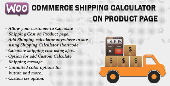 Wordpress E-Commerce Plugin Woocommerce Shipping Calculator On Product Page