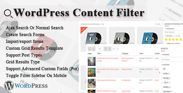 Wordpress E-Commerce Plugin WordPress Content Filter