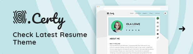 Certy - WordPress-Lebenslauf, Lebenslauf-Thema