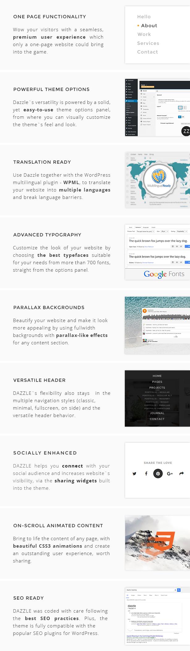 Verblüffen Sie die Funktionen des WordPress-Themas
