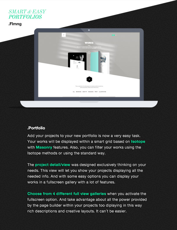 Flamingo - Agency & Freelance Portfolio Theme für WordPress - 8