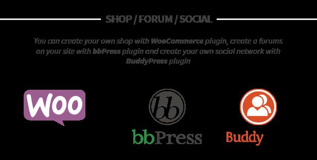 WooCommerce, bbPress und BuddyPress unterstützen