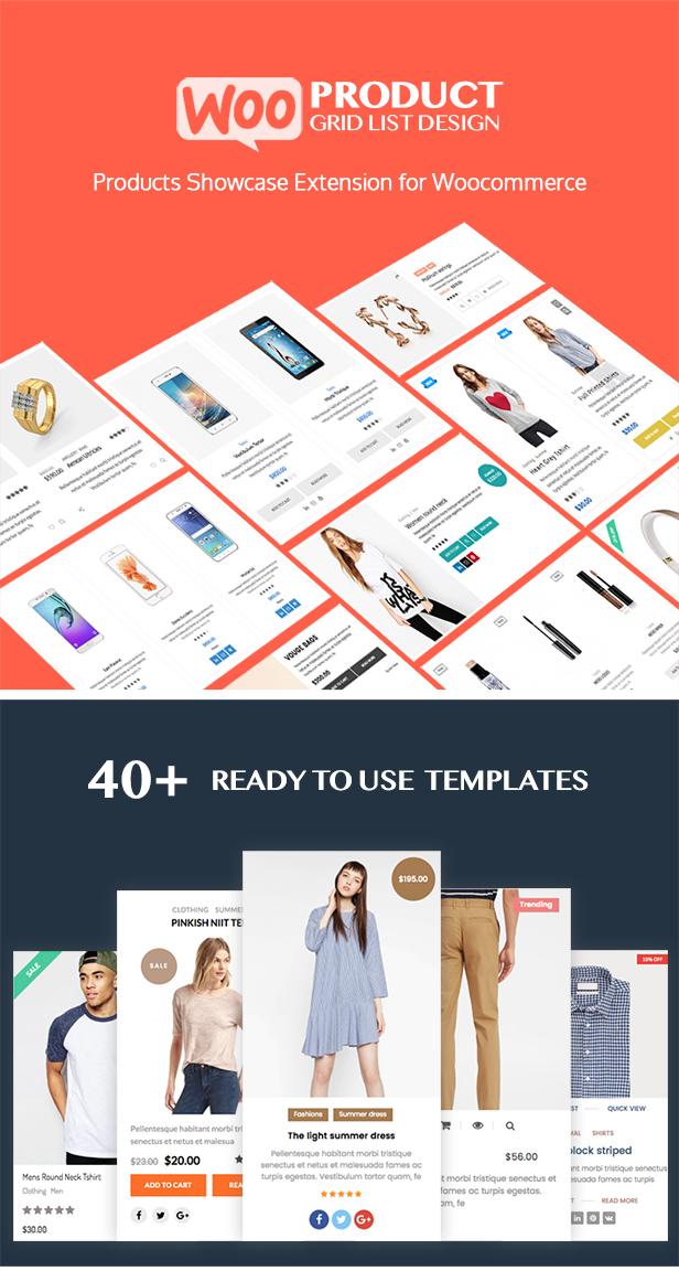 WOO Product Grid / List Design - Responsive Products Showcase-Erweiterung für Woocommerce - 1