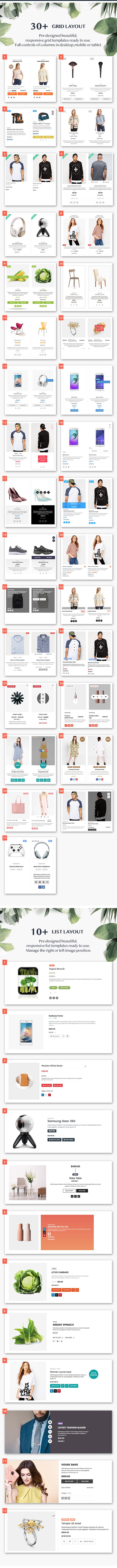 WOO Product Grid / List Design - Responsive Products Showcase-Erweiterung für Woocommerce - 2