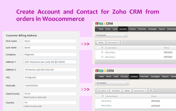 Woocommerce Zoho CRM Integration - 6