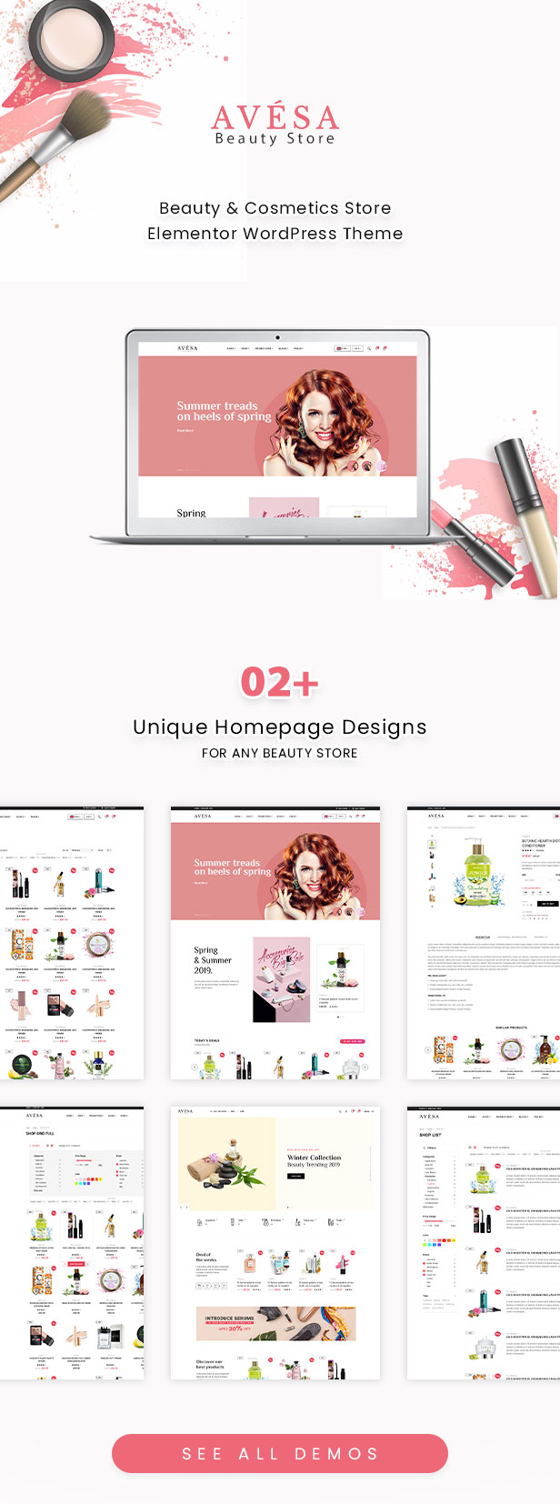 Avesa - Schönheitssalon WooCommerce WordPress Theme - WooCommerce Theme