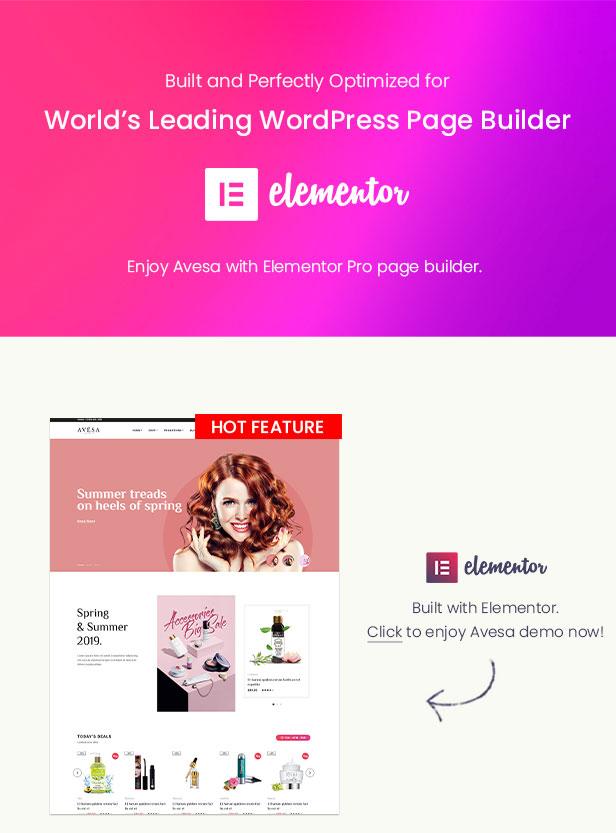 Avesa - Beauty Store WooCommerce WordPress Theme-Elementor Page Builder