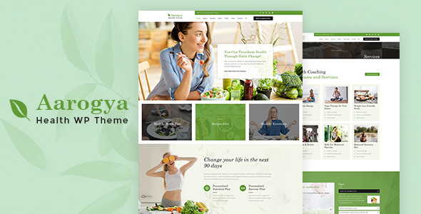 Wordpress Immobilien Template Aarogya | Nutrition, Weight Loss and Dietitian
