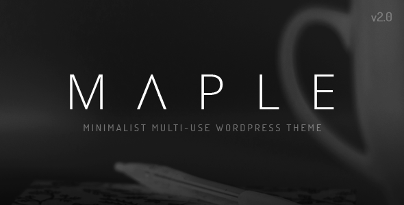 Wordpress Kreativ Template Maple   Clean Minimal Multi-Purpose WordPress Theme