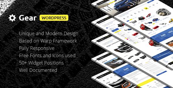 Wordpress Corporate Template Gear — Automotive, Cars, Vehicle, Boat Dealership, Classifieds WordPress Theme