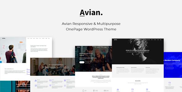 Wordpress Immobilien Template Avian - Responsive and Multipurpose OnePage WordPress Theme