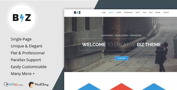 Biz - Mehrzweck-Business-WordPress-Theme