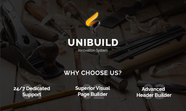 Fabrik, Industrie, Bau Gebäude WordPress Theme - Unibuild - 2