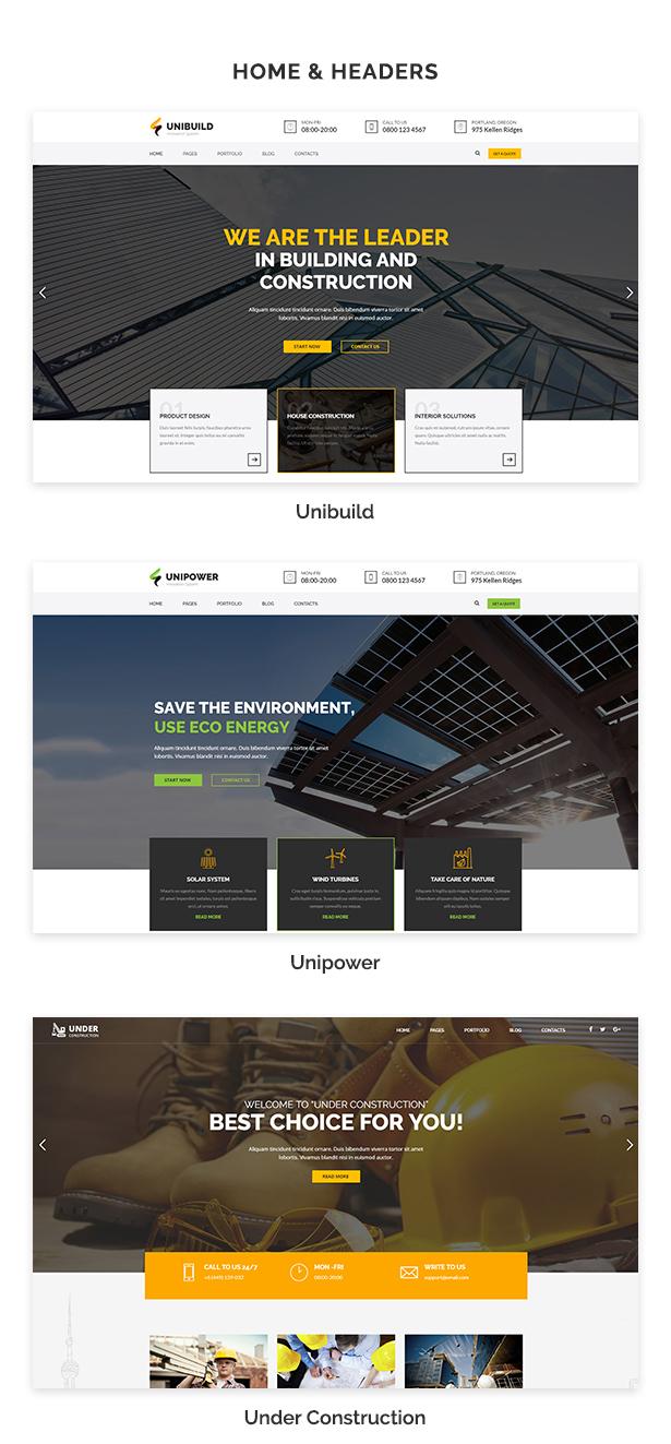 Fabrik, Industrie, Bau Gebäude WordPress Theme - Unibuild - 3