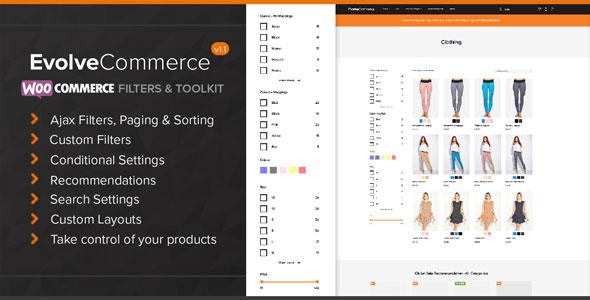 Wordpress E-Commerce Plugin Evolve Commerce - WooCommerce Filters & Toolkit