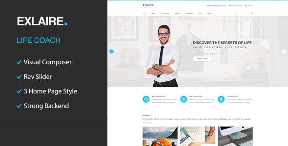 Wordpress Immobilien Template Exclaire – Personal Development Coach WordPress Theme