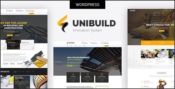 Wordpress Immobilien Template Factory, Industry, Construction Building WordPress Theme - Unibuild