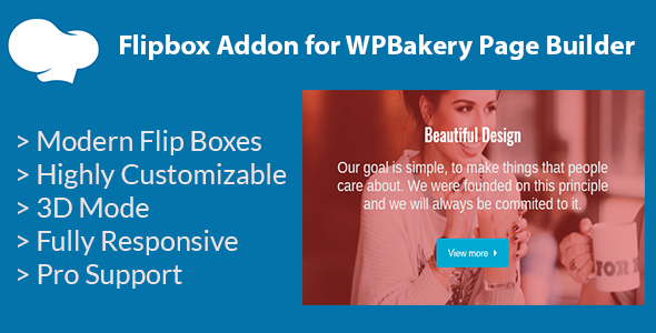 Wordpress E-Commerce Plugin Flipbox Addon for WPBakery Page Builder (formerly Visual Composer)