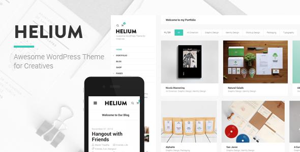 Wordpress Kreativ Template Helium - Modern Portfolio & Blog Theme