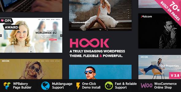 Wordpress Kreativ Template Hook - Superior WordPress Theme