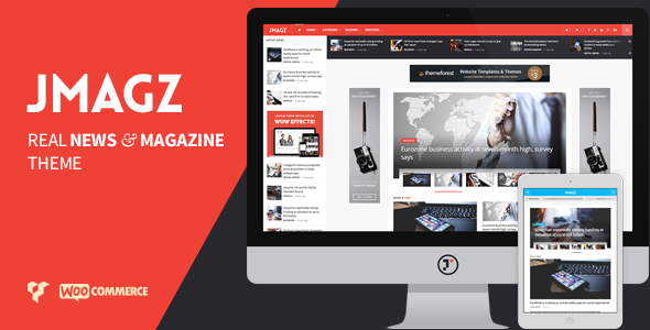 Wordpress Blog Template JMagz - Tech News Review Magazine WordPress Theme