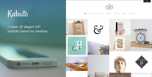 Wordpress Kreativ Template Kabuto: a clean, minimal & responsive WordPress creative theme with a fullscreen portfolio grid