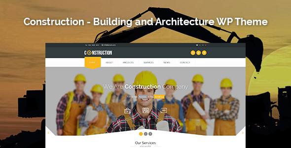 Wordpress Corporate Template Construction - Building and Architecture WordPress Theme
