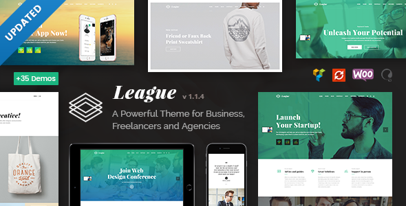 Wordpress Immobilien Template League - A Powerful Theme for Business, Freelancers and Agencies
