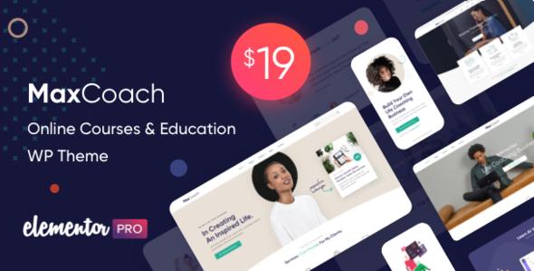 Wordpress BILDUNG Template MaxCoach - Online Courses & Education WP Theme