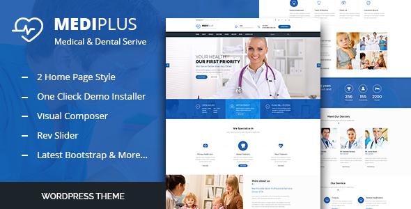 Wordpress Immobilien Template Medi Plus - Health Care WordPress Theme