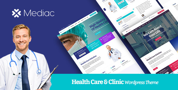 Wordpress Immobilien Template Mediac - Healthy Service WordPress Theme