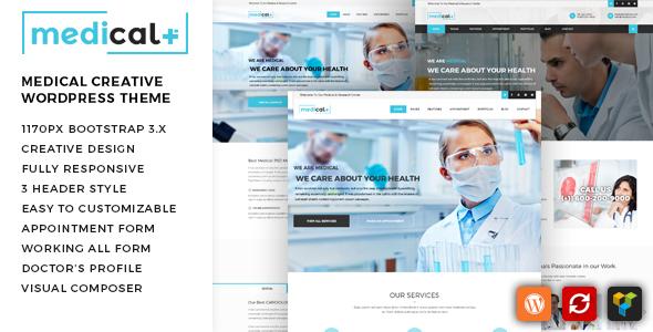 Wordpress Immobilien Template Medical Plus - Health Care, Clinic WordPress Theme